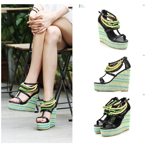 SH0391 IDR.277.000 MATERIAL PU HEEL 4CM,13CM COLOR GREEN SIZE 36,37,38,39