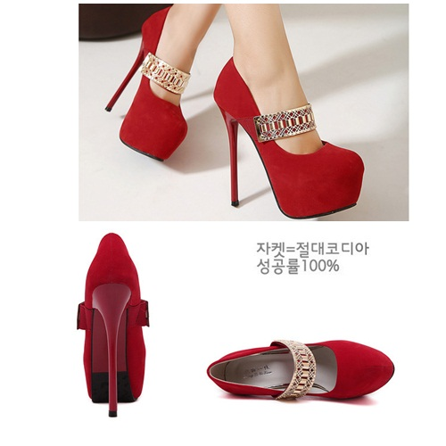 SH0617 IDR.218.000 MATERIAL SUEDE-HEEL-5CM,14.5CM COLOR RED SIZE 35.36,37,38,39