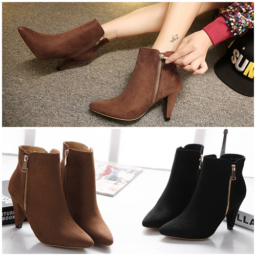 SH0713 IDR.255.000 MATERIAL SUEDE-HEEL-9CM COLOR BROWN SIZE 35,36,37,38,39