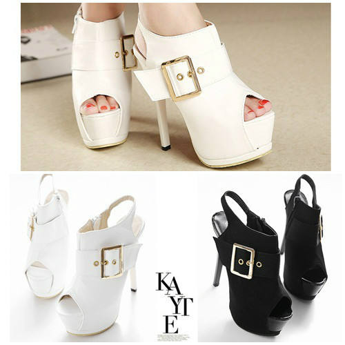 SH1009 IDR.270.000 MATERIAL PU HEEL 6CM,15CM COLOR WHITE SIZE 36,37,38,39