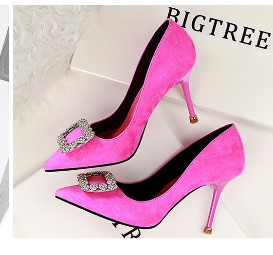 SH10113 IDR.220.000 MATERIAL SUEDE-HEEL-9CM COLOR ROSE SIZE 36,37,38,39