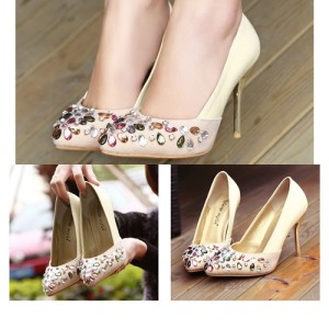 SH1088 IDR.22O.OOO MATERIAL PU HEEL 9.5CM COLOR APRICOT SIZE 35,36,37,38,39