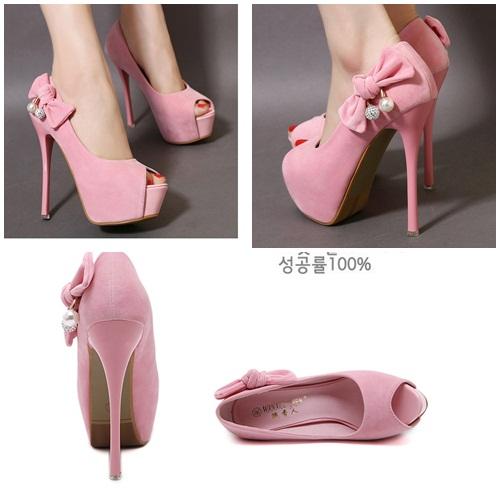 SH1098 IDR.215.000 MATERIAL SUEDE-HEEL-14CM COLOR PINK SIZE 36,37,38