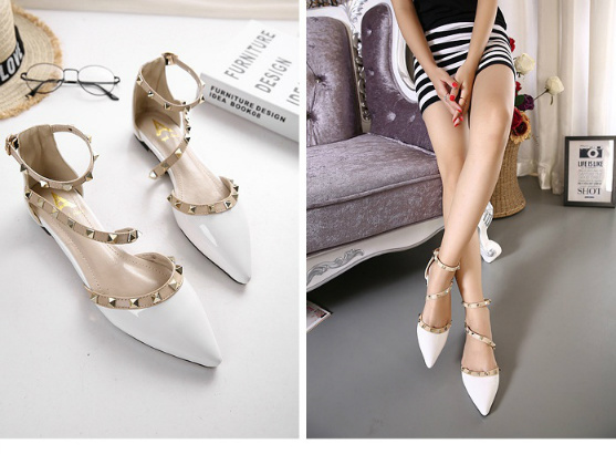 SH11065 IDR.218.000 MATERIAL PU-HEEL-1CM COLOR WHITE SIZE 35,36,37,38,39
