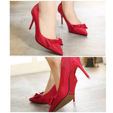 SH1153 IDR.235.000 MATERIAL PU-HEEL-8.5CM COLOR RED SIZE 35,36,37,38