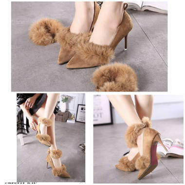 SH1155 IDR.245.000 MATERIAL SUEDE-HEEL-8.5CM COLOR BROWN SIZE 35,36,37,38