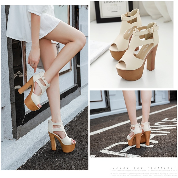 SH11881 IDR.244.000 MATERIAL PU HEEL 14CM COLOR APRICOT SIZE 36,37,38,39