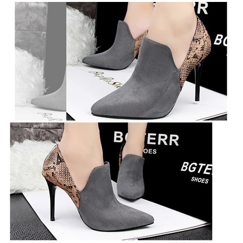 SH1223 IDR.245.000 MATERIAL SUEDE HEEL 9.5CM COLOR GRAY SIZE 35,36,37,38,39