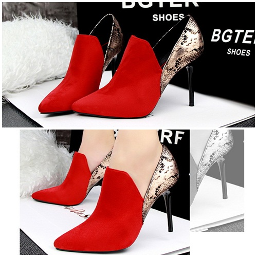 SH1223 IDR.245.000 MATERIAL SUEDE HEEL 9.5CM COLOR RED SIZE 35,36,37,38,39