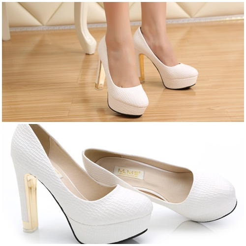 SH13580 IDR.220.000 MATERIAL PU-HEEL-3.5CM,12M COLOR WHITE SIZE 36,37,38,39