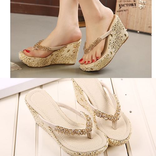 SH1382 IDR.227.000 MATERIAL BEADED HEEL 4CM,10CM COLOR APRICOT SIZE 35,36,38,39
