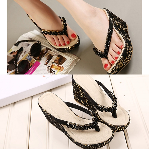 SH1382 IDR.227.000 MATERIAL BEADED HEEL 4CM,10CM COLOR BLACK SIZE 36,37,38,39