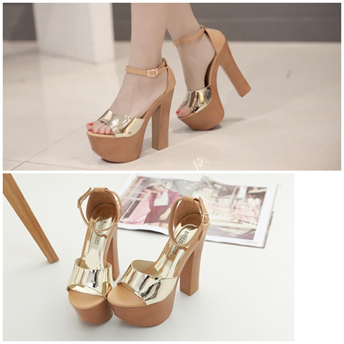 SH13881 IDR.235.000 MATERIAL PU-HEEL-14CM COLOR GOLD SIZE 36,37,38,39