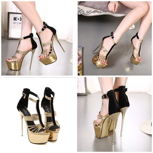 SH16610 IDR.252.000 MATERIAL PU HEEL 16CM COLOR GOLD SIZE 36,37,38,39,40