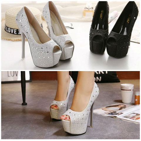 SH1881 IDR.238.000 MATERIAL PU-HEEL-15.5CM COLOR SILVER SIZE 35,36,37,38,39
