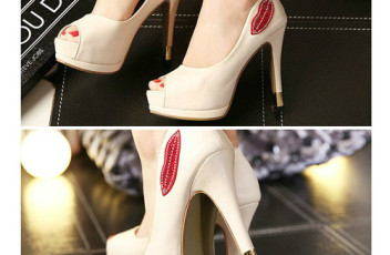 SH2218 IDR.223.000 MATERIAL PU HEEL 4CM,12.5CM COLOR WHITE SIZE 36,37,38,39