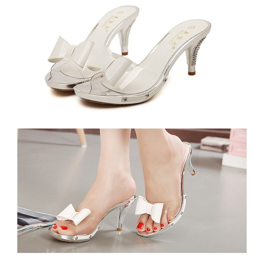 SH2335 IDR.215.000 MATERIAL PU HEEL 8CM COLOR WHITE 35,36,37,38,39