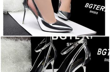 SH29811 IDR.220.000 MATERIAL PU-HEEL-9.5CM COLOR SILVER SIZE 35,36,37,38,39