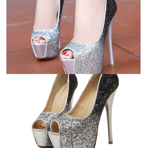 SH313 IDR.235.OOO MATERIAL PU HEEL 5.5CM,15CM COLOR GOLD,SILVER SIZE 36,37,38,39 (2)