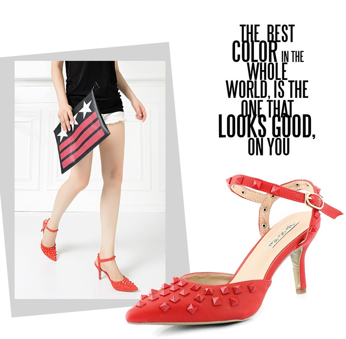 SH3152 IDR.252.000 MATERIAL PU-HEEL-8CM COLOR RED SIZE 36,37,38,39