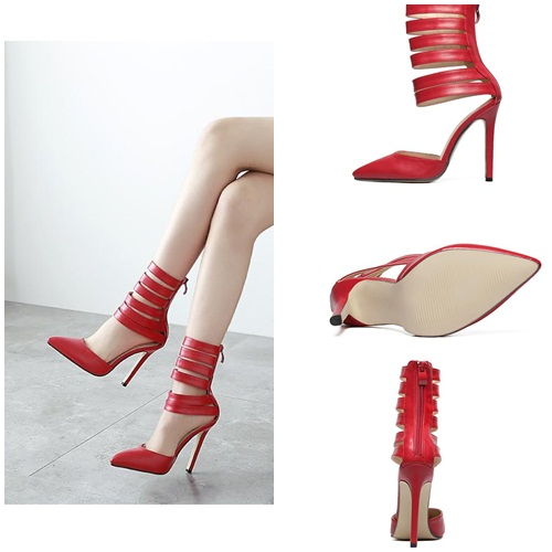 SH31786 IDR.225.000 MATERIAL PU-HEEL-11.5CM COLOR RED SIZE 36,37,38,39
