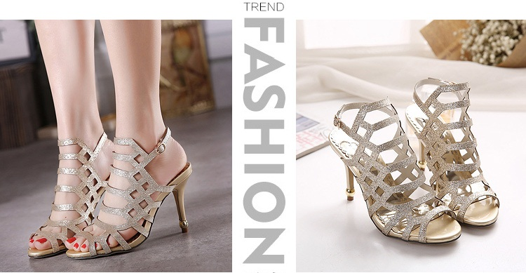 SH31861 IDR.205.000 MATERIAL PU-HEEL-10CM COLOR GOLD SIZE 35,36,37,38