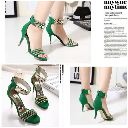 SH31863 IDR.208.000 MATERIAL SUEDE-HEEL-9CM COLOR GREEN SIZE 35,36,37,38,39