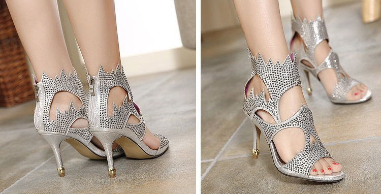 SH31865 IDR.245.000 MATERIAL PU-HEEL-9CM COLOR SILVER SIZE 35,36,37,38,39