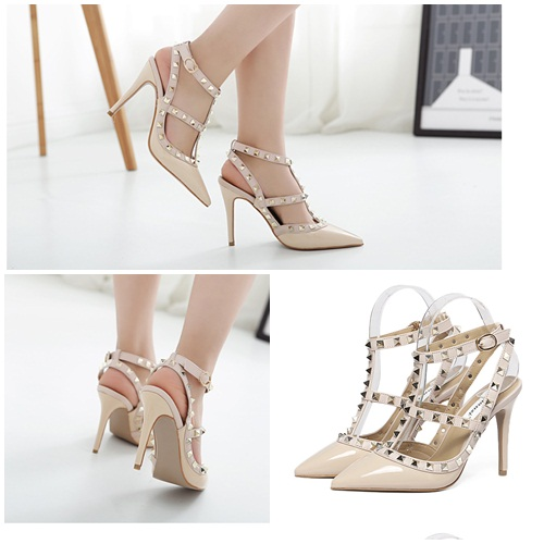 SH37011 IDR.255.000 MATERIAL PU-HEEL-10CM COLOR APRICOT SIZE 35,36,37,38,39