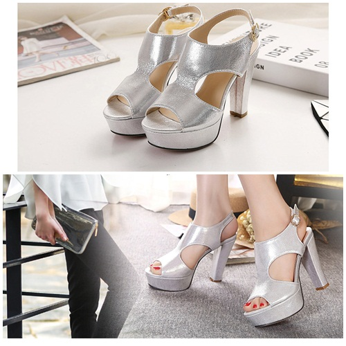 SH50193 IDR.215.000 MATERIAL PU-HEEL-10CM COLOR SILVER SIZE 36,37,38,39