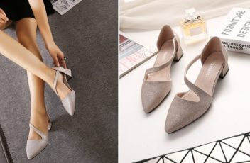 SH51253 IDR.205.000 MATERIAL PU-HEEL-4.5CM COLOR GOLD SIZE 35,36,37,38,39