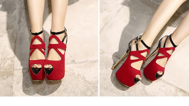 SH53232 IDR.235.000 MATERIAL SUEDE-HEEL-16CM COLOR RED SIZE 36,37,38,39,40