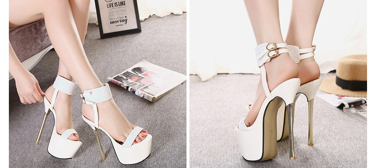 SH53236 IDR.235.000 MATERIAL PU-HEEL-16.5CM COLOR WHITE SIZE 36,37,38,39