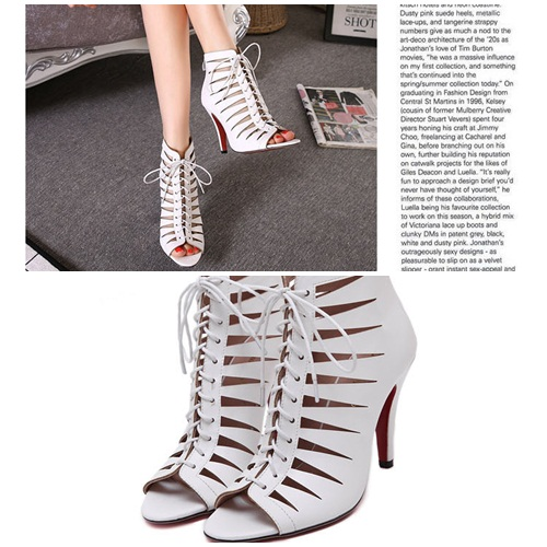 SH53993 IDR.218.000 MATERIAL PU-HEEL-10CM COLOR WHITE SIZE 36,37,38,39