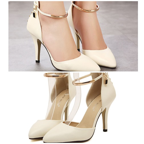 SH5758 IDR.210.000 MATERIAL PU-HEEL-9CM COLOR APRICOT SIZE 35,36,37,38,39