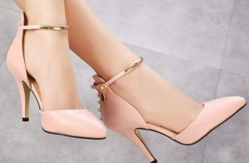 SH5758 IDR.210.000 MATERIAL PU-HEEL-9CM COLOR PINK SIZE 35
