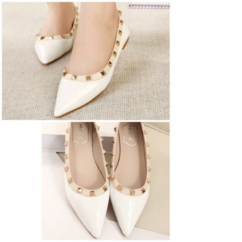 SH5881 IDR.198.000 MATERIAL PU-HEEL-2CM COLOR WHITE SIZE 35,36,37,38,39,40