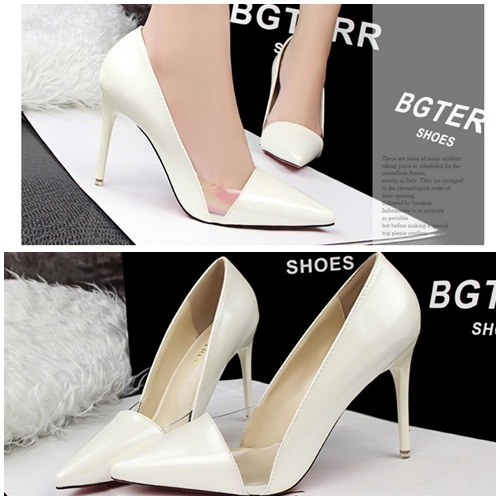 SH60191 IDR.215.000 MATERIAL PU-HEEL-9.5CM COLOR WHITE SIZE 35,36,37,38,39