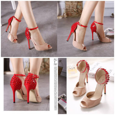 SH638 IDR.245.000 MATERIAL PU-HEEL-12CM COLOR PINK SIZE 35,36,37,38,39