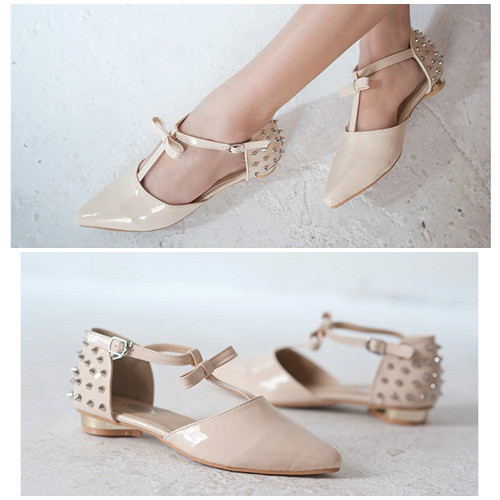 SH6632 IDR.240.000 MATERIAL PU HEEL 1.5CM COLOR APRICOT SIZE 35,36,37,39