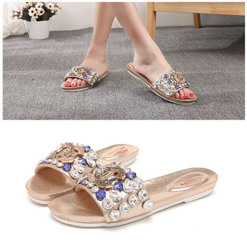 SH6661 IDR.248.000 MATERIAL PU-HEEL-2CM COLOR GOLD SIZE 35,36,37,38,39