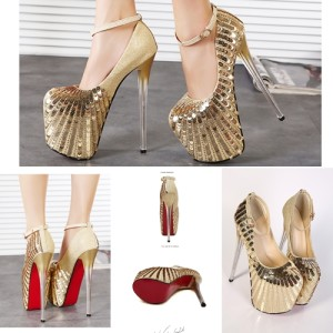 SH6676 IDR.32O.OOO MATERIAL PU HEEL 9.5CM,19.5CM COLOR GOLD SIZE 36,37,38,39,40