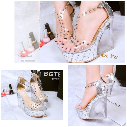 SH76021 IDR.269.000 MATERIAL PU-HEEL-12CM COLOR SILVER SIZE 36,37,38,39