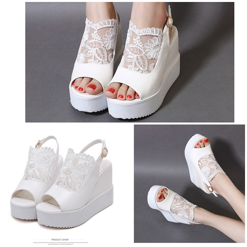 SH7765 IDR.215.000 MATERIAL LACE-HEEL-11CM COLOR WHITE SIZE 35,36,37,38,39