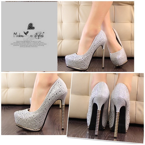 SH8132 IDR.265.000 MATERIAL PU HEEL 4CM,13.5MC COLOR SILVER SIZE 36,37,38,39