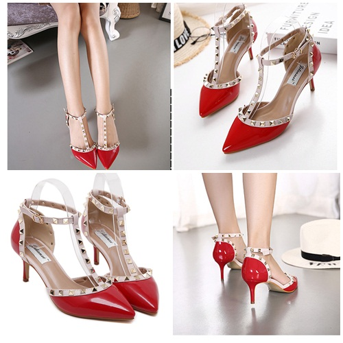 SH8299 IDR.235.000 MATERIAL PU-HEEL-7CM COLOR RED SIZE 35,36,37,38,39