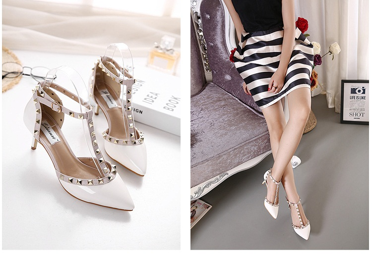 SH8299 IDR.235.000 MATERIAL PU-HEEL-7CM COLOR WHITE SIZE 35,36,37,38,39