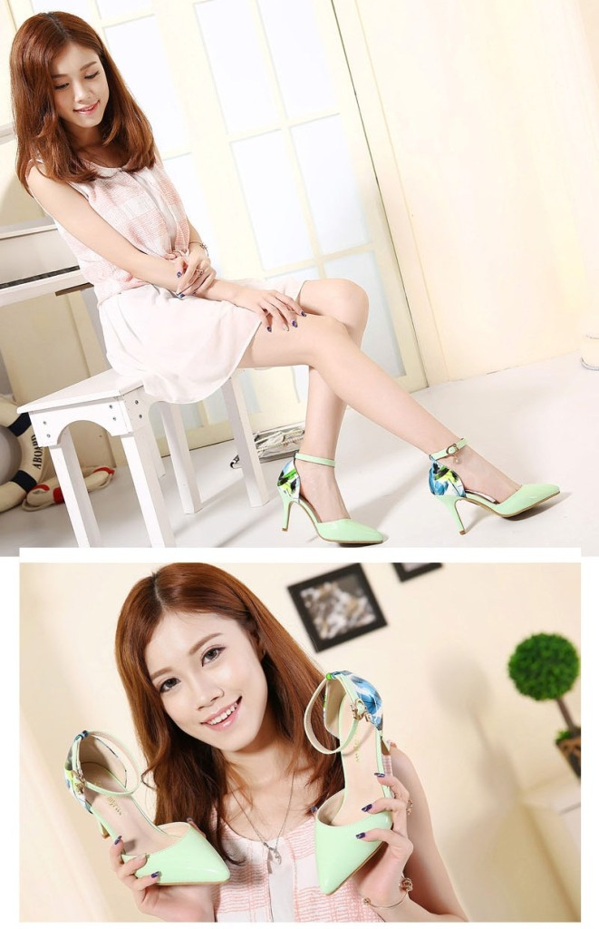 SH8323 IDR.215.000 MATERIAL PU-HEEL-8CM COLOR GREEN SIZE 37
