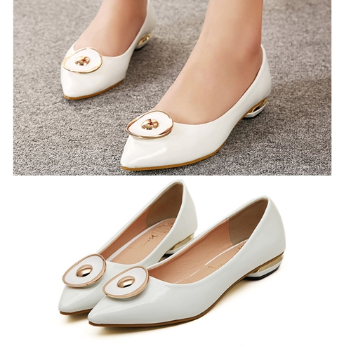 SH8331 IDR.215.OOO MATERIAL PU HEEL 2CM COLOR BLACK,WHITE SIZE 36,37,38,39 (2)