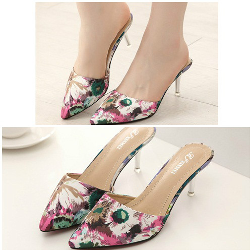 SH8343 IDR.225.000 MATERIAL PU HEEL 7CM COLOR RED SIZE 36,37,38,39